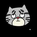 Gray Kitties messages sticker-2