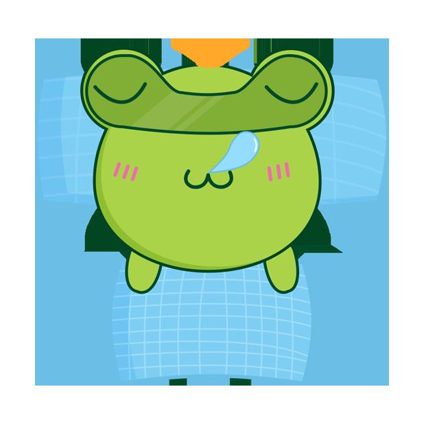 Biubiu frog messages sticker-2