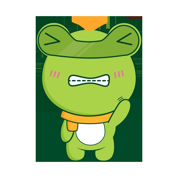 Biubiu frog messages sticker-3