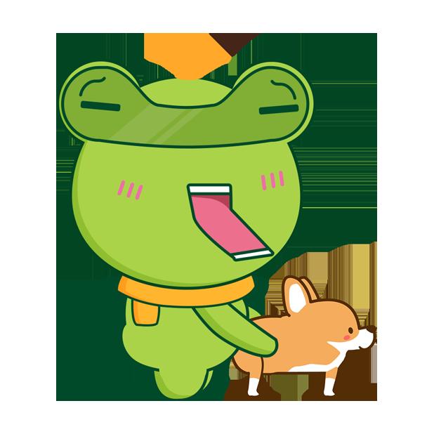 Biubiu frog messages sticker-11