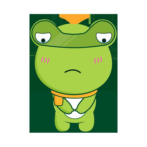 Biubiu frog messages sticker-5