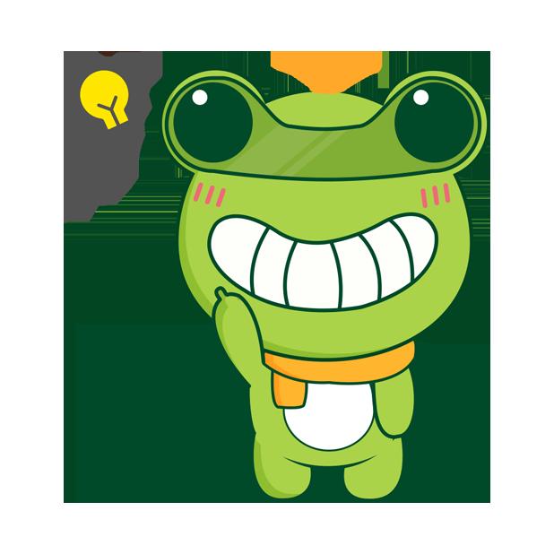 Biubiu frog messages sticker-0
