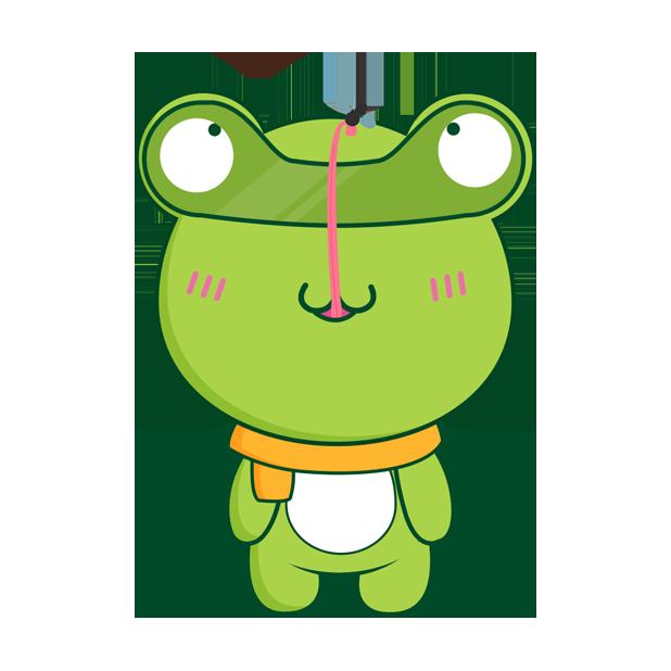 Biubiu frog messages sticker-4