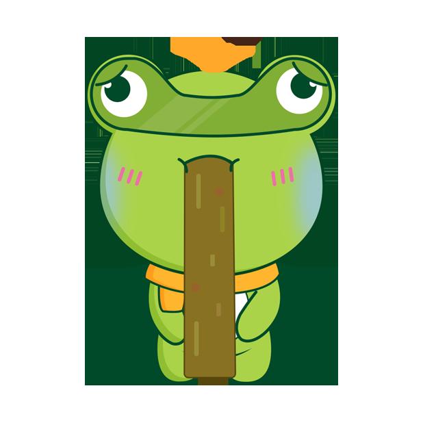 Biubiu frog messages sticker-8