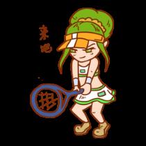 网球女孩贴图 messages sticker-2