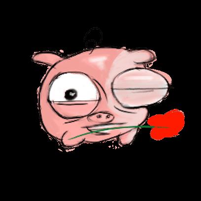 Lovely Piglet messages sticker-1