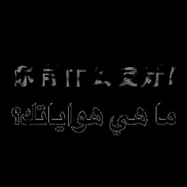 Arabic Chinese Sticker messages sticker-9