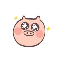 Maiale Emoji messages sticker-3