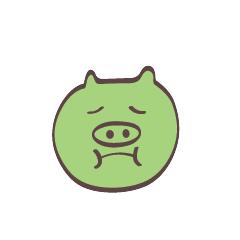 Maiale Emoji messages sticker-10