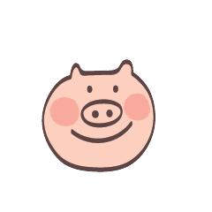 Maiale Emoji messages sticker-4