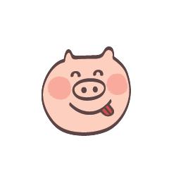 Maiale Emoji messages sticker-11