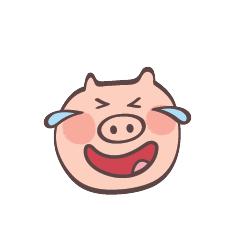 Maiale Emoji messages sticker-9