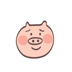 Maiale Emoji messages sticker-1