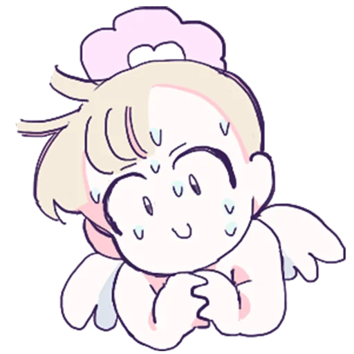 Silly little angel messages sticker-0