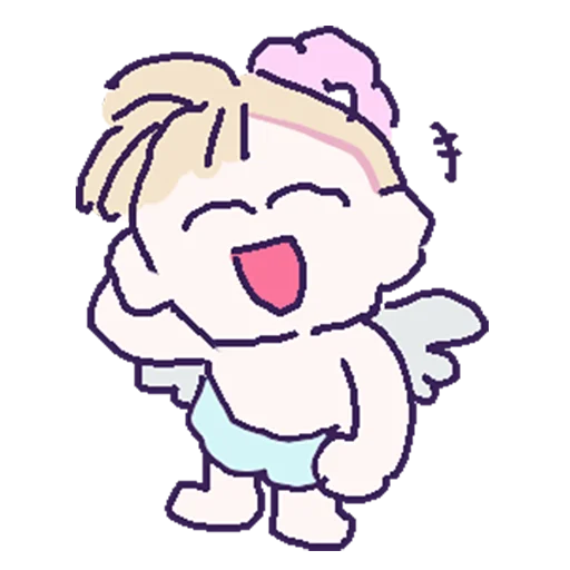 Silly little angel messages sticker-3