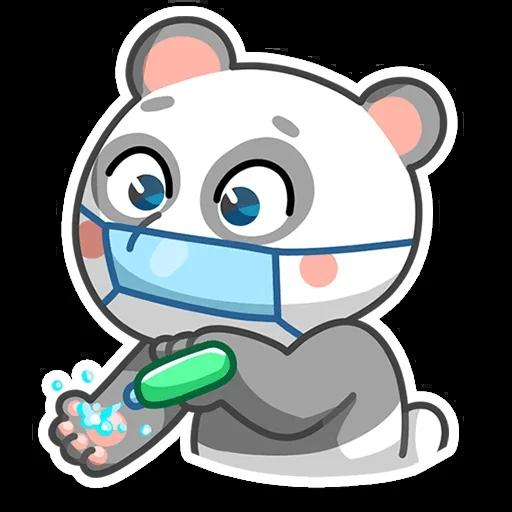 Sick bear messages sticker-2