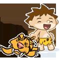 CaveBoy-Sticker messages sticker-4