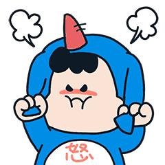 萌萌卡通壁纸 messages sticker-6