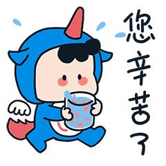 萌萌卡通壁纸 messages sticker-10