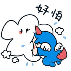 萌萌卡通壁纸 messages sticker-7