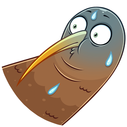 Киви Стиви наклейка messages sticker-3