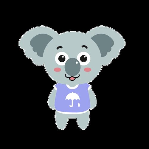 Cute Koala for IM messages sticker-5
