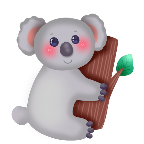 Cute Koala for IM messages sticker-10