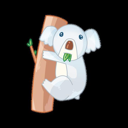 Cute Koala for IM messages sticker-1