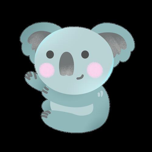 Cute Koala for IM messages sticker-6
