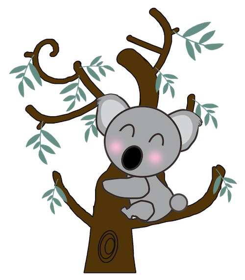 Cute Koala for IM messages sticker-2
