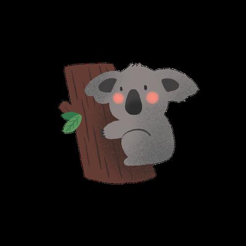 Cute Koala for IM messages sticker-9