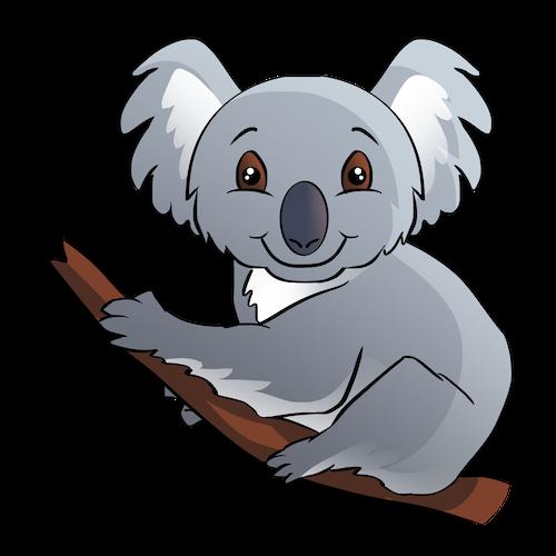 Cute Koala for IM messages sticker-3
