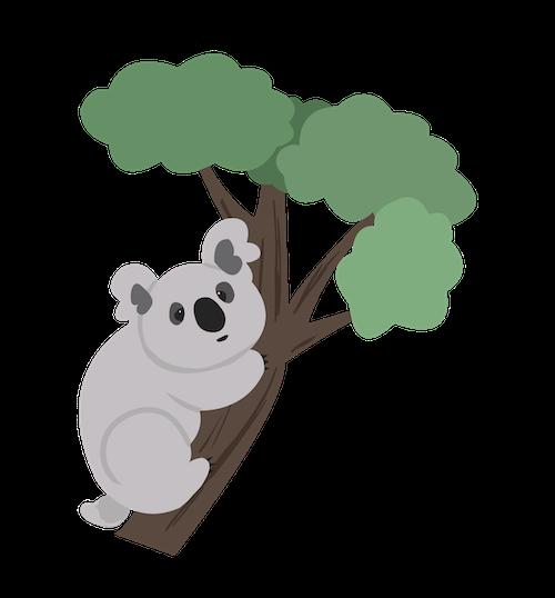 Cute Koala for IM messages sticker-7