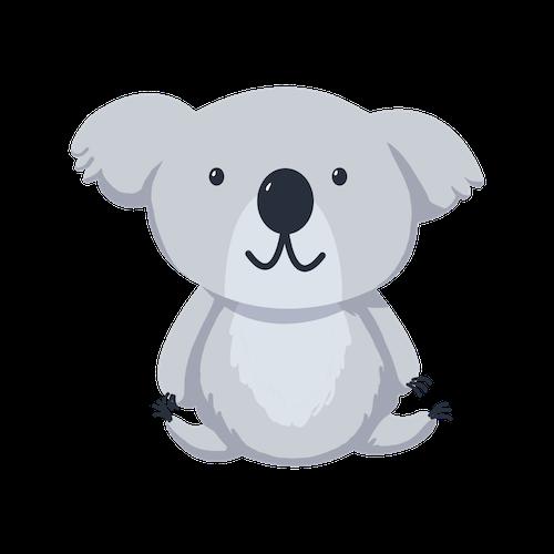 Cute Koala for IM messages sticker-0