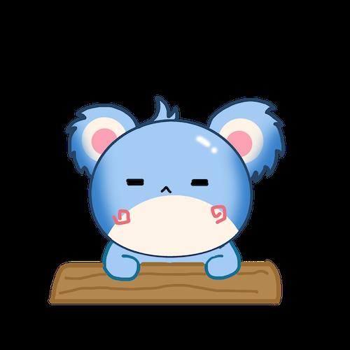 Cute Koala for IM messages sticker-4