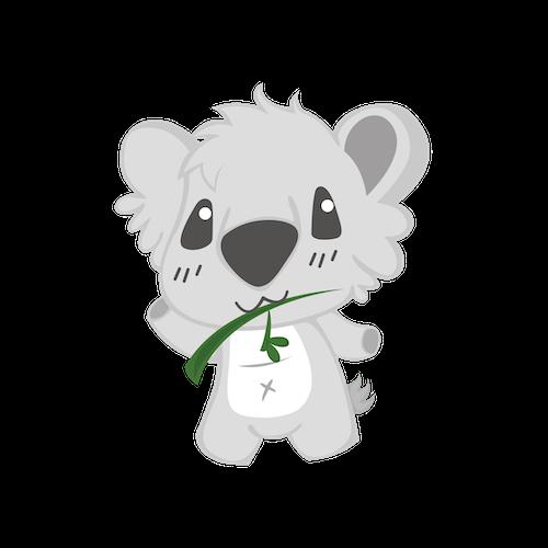 Cute Koala for IM messages sticker-8