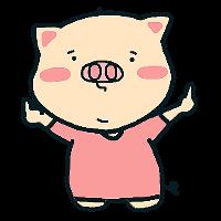 Pink Pig Girl messages sticker-0