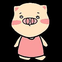 Pink Pig Girl messages sticker-9