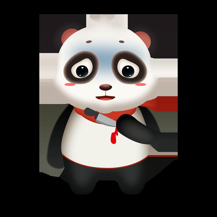 Panda Cute - Photos messages sticker-9