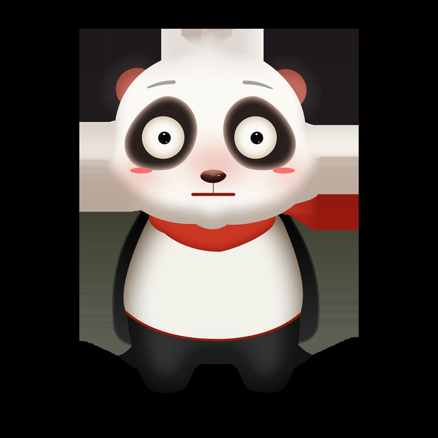 Panda Cute - Photos messages sticker-2