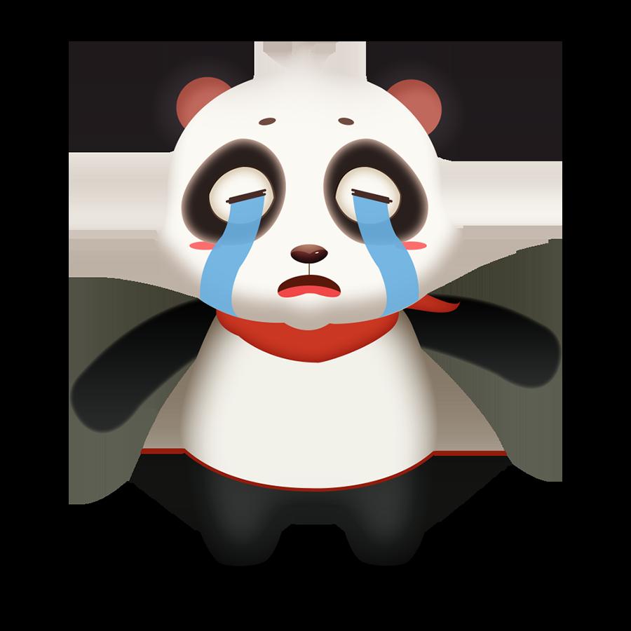 Panda Cute - Photos messages sticker-3