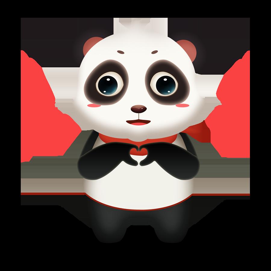 Panda Cute - Photos messages sticker-5
