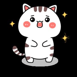 小猫真可爱-小喵贴图 messages sticker-1