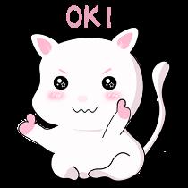 甜美可爱小猫表情——短信聊天表情包 messages sticker-5