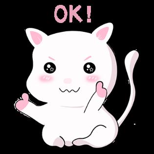甜美可爱小猫表情——短信聊天表情包 messages sticker-6