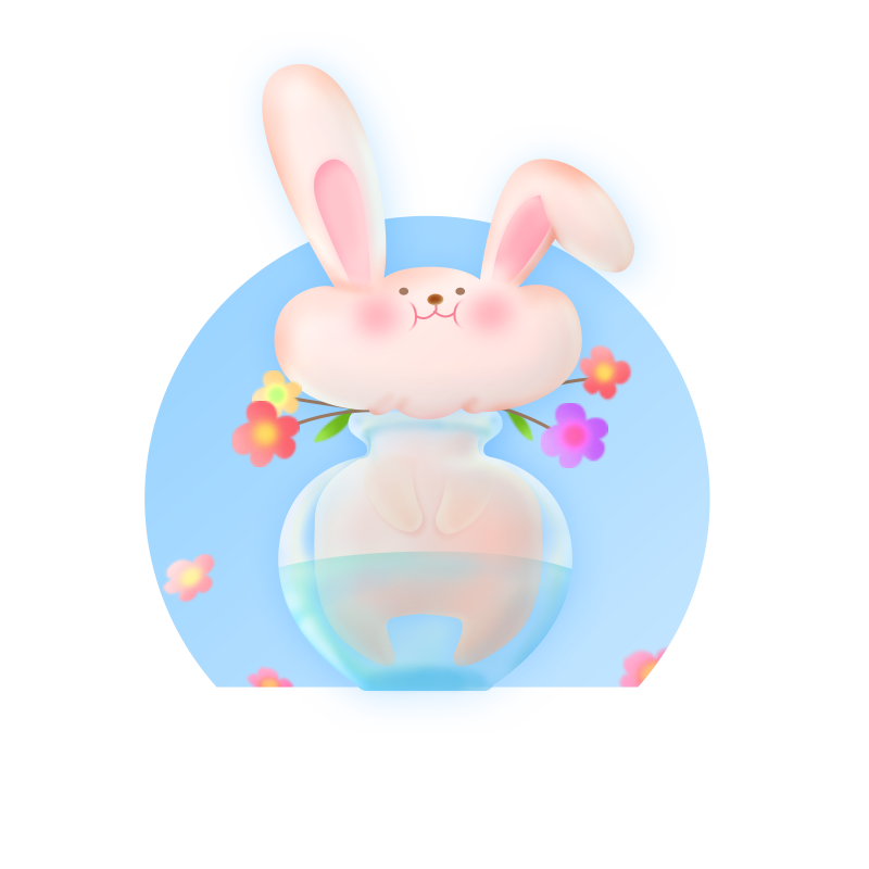 Rabbit Pink messages sticker-2