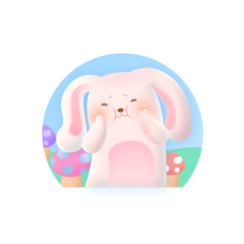 Rabbit Pink messages sticker-1