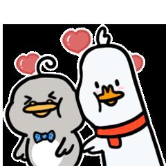 Funny Duck Wallpaper messages sticker-8