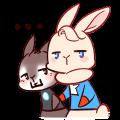 Iron Shield Rabbit messages sticker-2
