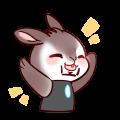 Iron Shield Rabbit messages sticker-8
